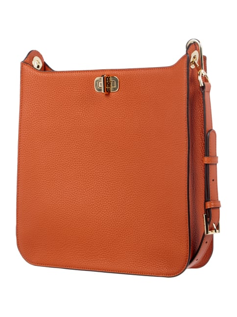 Shopper aus Saffianoleder Orange - 1
