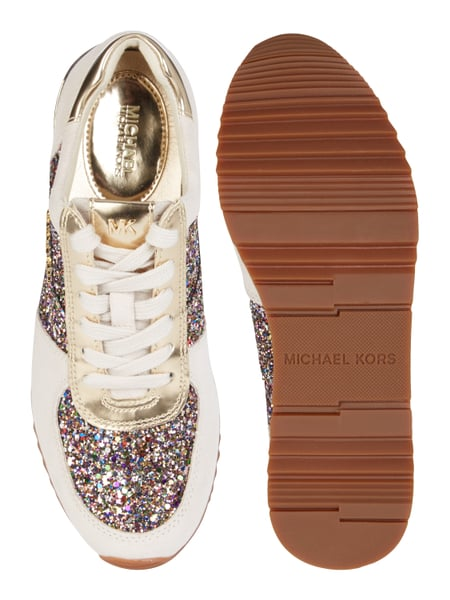 michael kors sneaker 39 allie 39 aus veloursleder mit glitter effekt in wei online kaufen 9695229. Black Bedroom Furniture Sets. Home Design Ideas