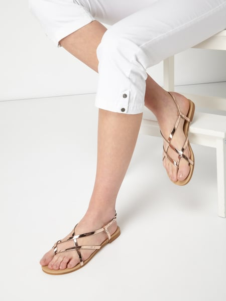MICHELA Sandalen in verspiegelter Optik Rosé - 1