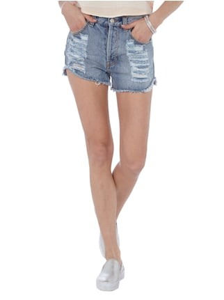 Minkpink High Waist Hotpants im Destroyed Look Jeans - 1