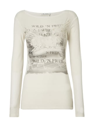 Longsleeve im Washed Out Look Weiß - 1