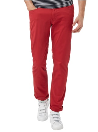 Montego 5-Pocket-Hose mit Stretch-Anteil Rot - 1