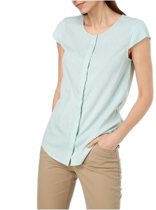 Montego Bluse mit Allover-Muster Mint - 1