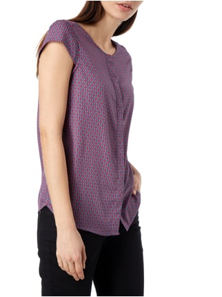 Montego Bluse mit Allover-Muster Pink - 1