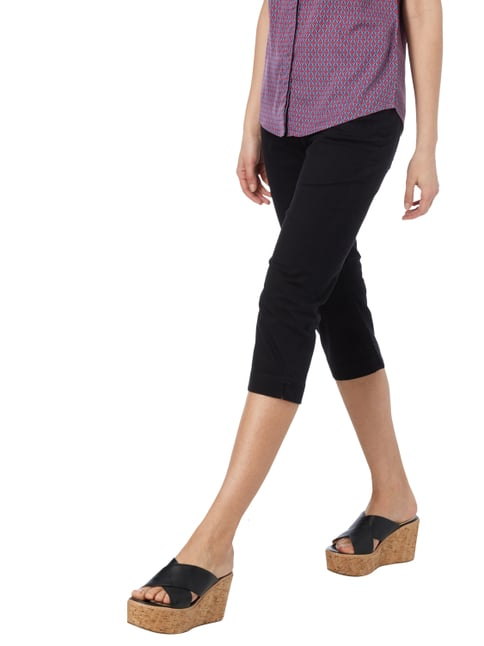 Montego Coloured Caprijeans mit Stretch-Anteil Schwarz - 1