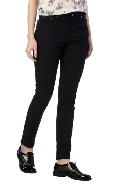 Montego Coloured Skinny Fit 5-Pocket-Jeans Schwarz - 1