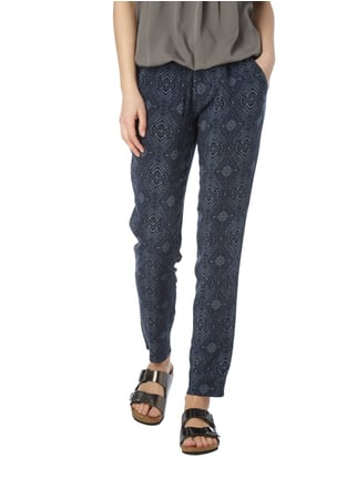 Montego Easy Pants mit Allover-Muster Bleu - 1