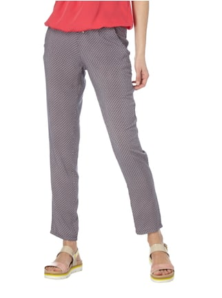 Montego Easy Pants mit Allover-Muster Pink - 1