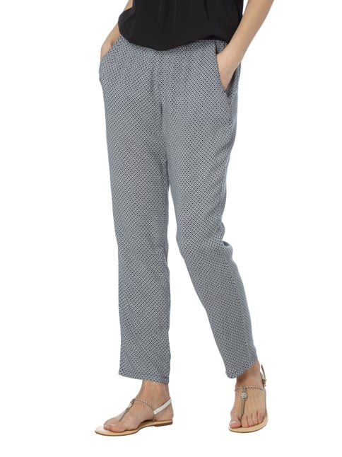 Montego Easy Pants mit Allover-Muster Rauchblau - 1
