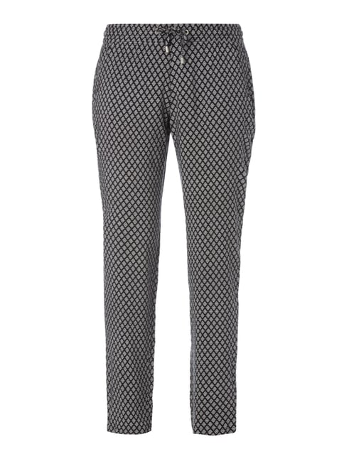 Easy Pants mit Allover-Muster Grau / Schwarz - 1