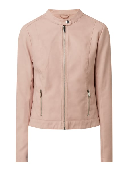 Montego Jacke in Veloursleder-Optik Rosa - 1