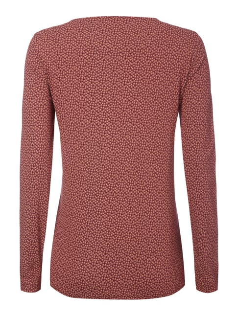 Montego Longsleeve mit Allover-Muster Bordeaux Rot - 1