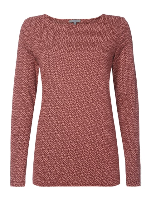 Longsleeve mit Allover-Muster Rot - 1
