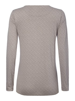 Montego Longsleeve mit Allover-Muster Graphit - 1
