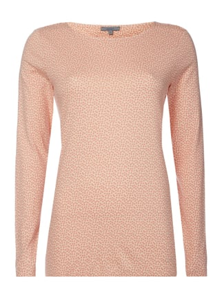 Longsleeve mit Allover-Muster Rosé - 1