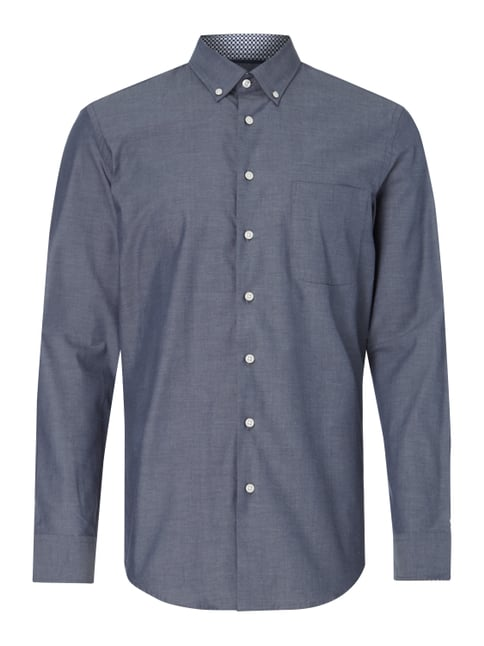 Modern Fit Business-Hemd mit Button-Down-Kragen Blau / Türkis - 1