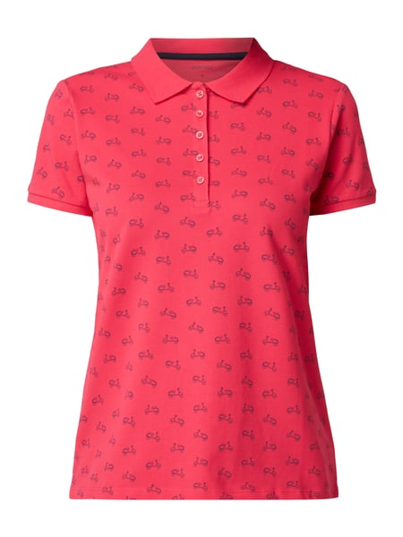 Montego Poloshirt mit Allover-Muster Pink
