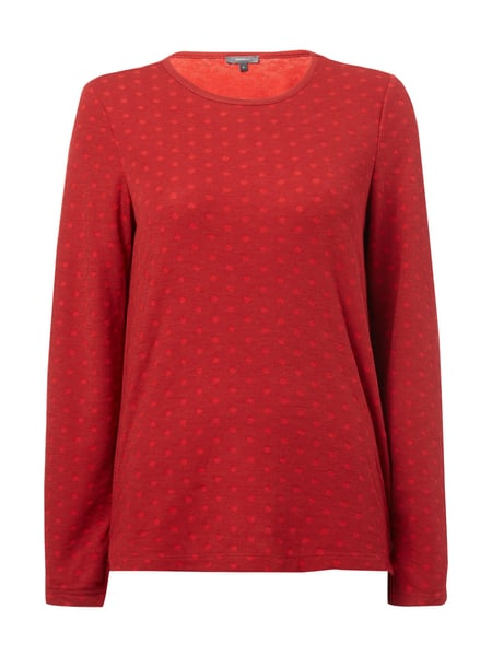 Montego Pullover mit Punktemuster Bordeaux Rot