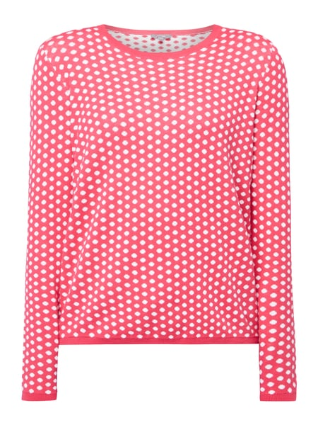 Montego Pullover mit Punktemuster Pink