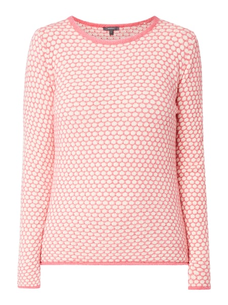 Montego Pullover mit Punktemuster Rosé - 1
