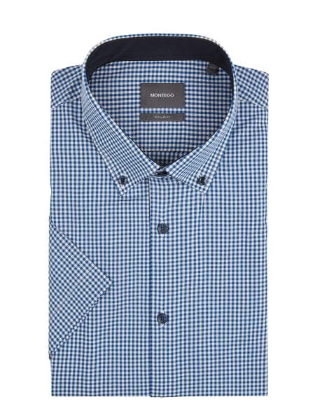 Montego Modern Fit Business-Hemd mit Button-Down-Kragen Blau / Türkis - 1