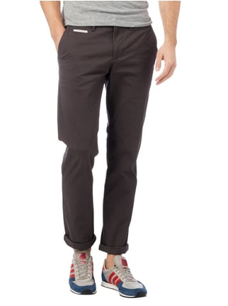 Montego Regular Fit Chino aus Baumwoll-Elasthan-Mix Anthrazit - 1