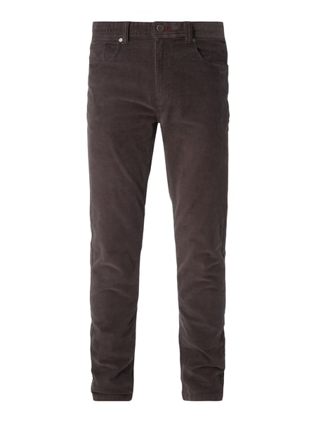 Montego Regular Fit Cordhose im 5-Pocket-Design Anthrazit
