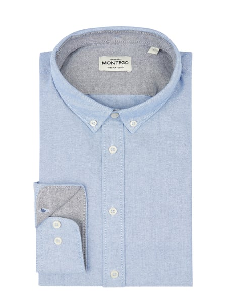 Montego Regular Fit Freizeithemd mit Button-Down-Kragen Blau - 1