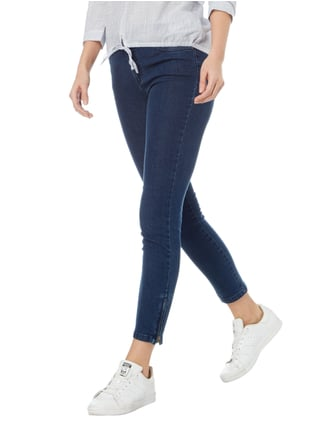 Montego Rinsed Washed Skinny Jeans in 7/8-Länge Dunkelblau - 1