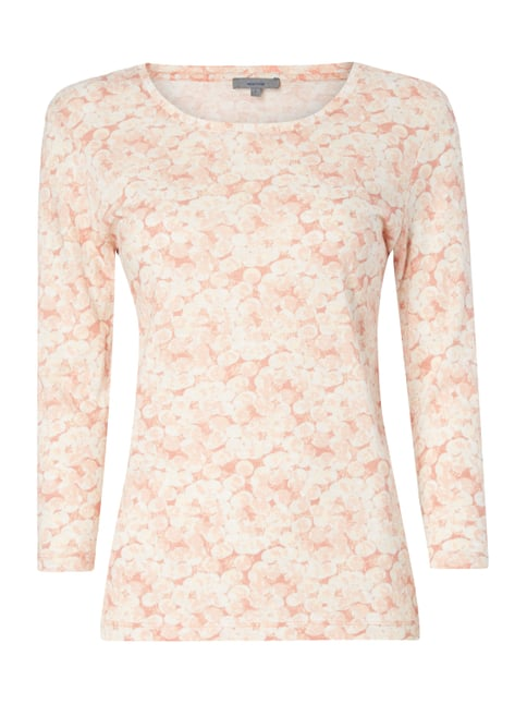 Shirt mit Allover-Muster Rosé - 1