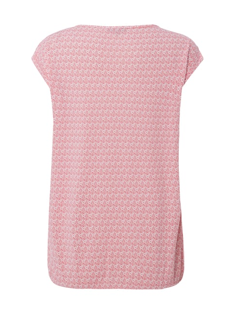 Montego Shirt mit Allover-Muster Pink - 1