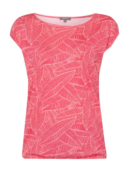 Montego Shirt mit Allover-Muster Pink