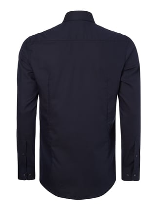 Montego Slim Fit Business-Hemd aus Twill Marineblau - 1