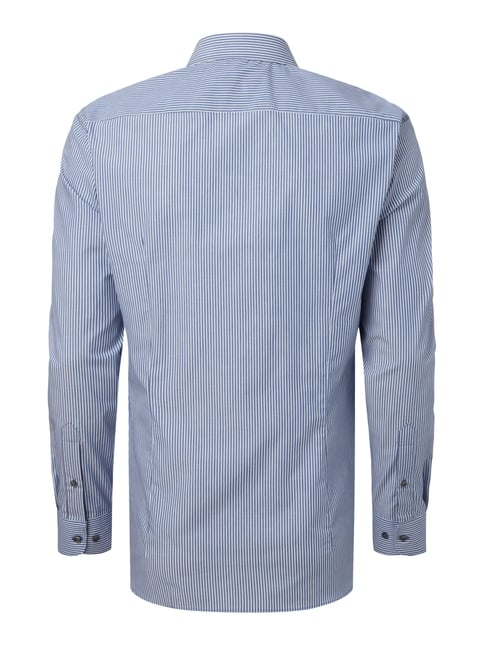 Montego Slim Fit Business-Hemd mit Streifenmuster Royalblau - 1