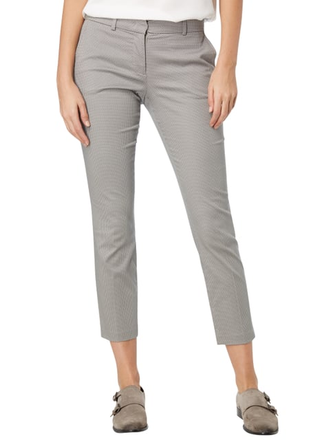 Montego Stoffhose mit Allover-Muster Silber - 1