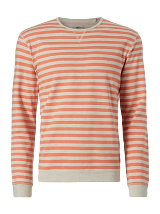 Sweatshirt mit Streifenmuster Orange - 1