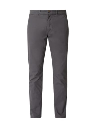 Montego Tapered Fit Chino mit Stretch-Anteil Grau - 1