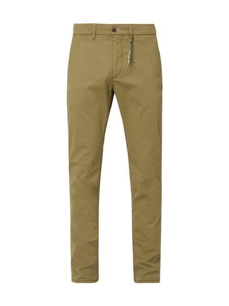 Montego Tapered Fit Chino mit Stretch-Anteil Grün - 1