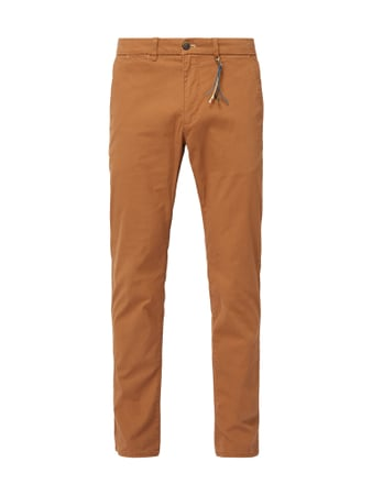 Montego Tapered Fit Chino mit Stretch-Anteil Rot - 1