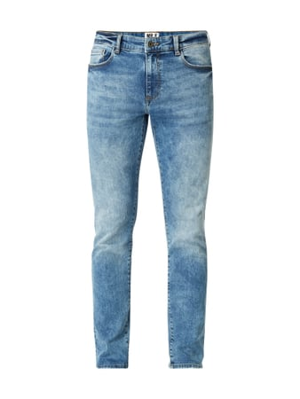 MR. F Bleached Slim Fit Jeans Blau - 1