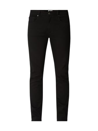 MR. F Coloured Slim Fit Jeans Grau / Schwarz - 1