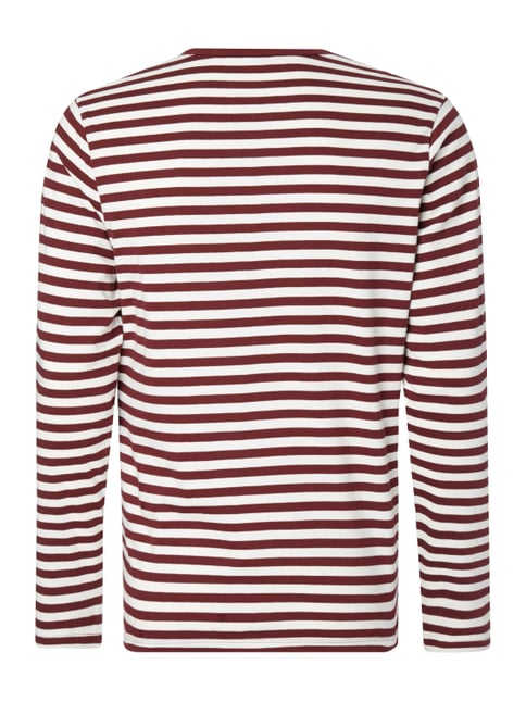 MR. F Longsleeve mit Logo-Stickerei Bordeaux Rot - 1