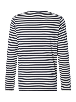 MR. F Longsleeve mit Logo-Stickerei Marineblau - 1