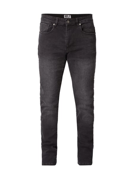 MR. F Stone Washed Slim Fit Jeans Anthrazit
