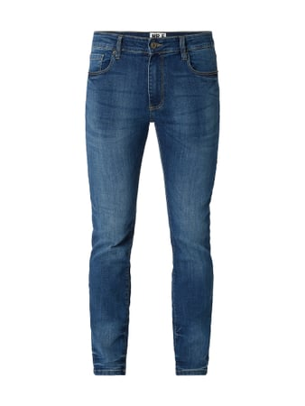MR. F Stone Washed Slim Fit Jeans Blau - 1