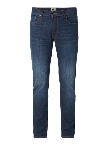 MR. F Stone Washed Slim Fit Jeans Blau / Türkis - 1