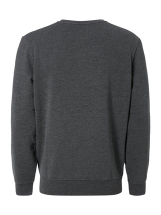 MR. F Sweatshirt mit Print Anthrazit meliert - 1
