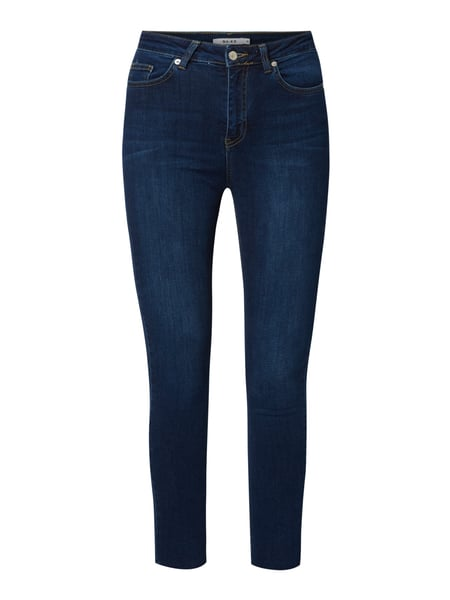 NA-KD Skinny fit high waist jeans met stretch Blauw - 1