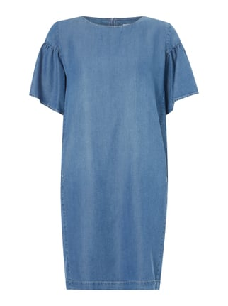 Kleid in Denimoptik Blau / Türkis - 1