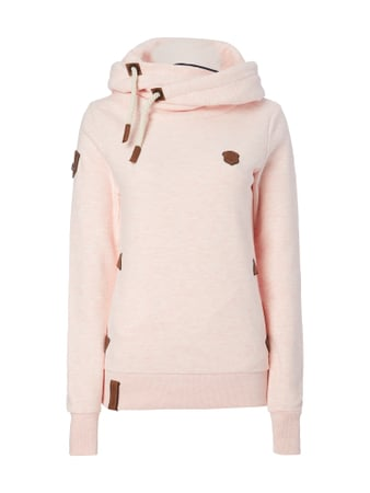Naketano Hoodie 'DARTH X' in Melangeoptik Rosé - 1